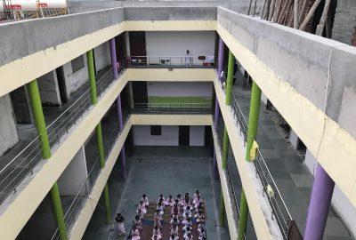 5A. Matraanchal Haridwar New Building - Children assembled for evening prayers